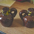Novelty Salt & Pepper Shakers Little Brown Jugs #301618