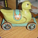 Decorative Wooden Country Style Shabby Duck Wagon Cart #301638