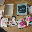 Vintage A Gibson Product Assortment of Six Seals for Card Party Prizes #301676