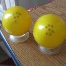 Vintage Yellow Plastic Eggs Salt & Pepper Shakers  #301690