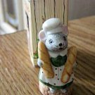 "6566 Li'l Mouse Town Baker Mouse Figurine 1 3/4"" Tall Russ #301715"