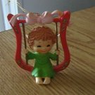 Little Angel Swinging on a Harp Figurine Ornament  #301744