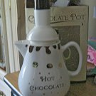 White Ceramic Hot Chocolate Pot by Kingsbridge International #301749