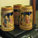 Three Ceramic German Style Steins No Lids #301783