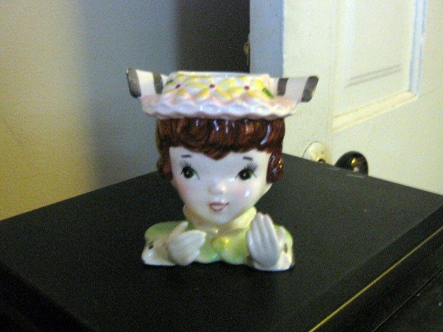 Small Vintage Lady Head Vase #301912