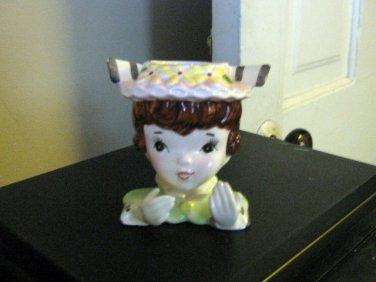 Small Vintage Lady Head Vase #301912