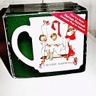 1989 Norman Rockwell Christmas Mug Caught Napping Hallmark  #301944