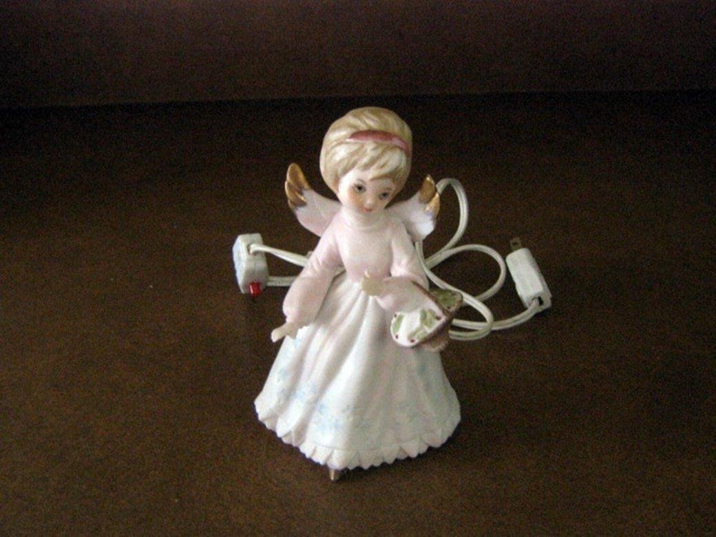 Vintage Lenwile Ardalt Japan Little Angel Girl Night Light #301913