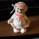 1991 Dreamsicles Little Girl Bear Heavenly Critters Figurine Signed Kristin #301939