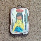 Wooden Laminated Little Girl DeGrazia Print Plaque  #301699