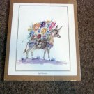 Ted DeGrazia Print April Flowers Signed 1972 in Arizona USA  #301412