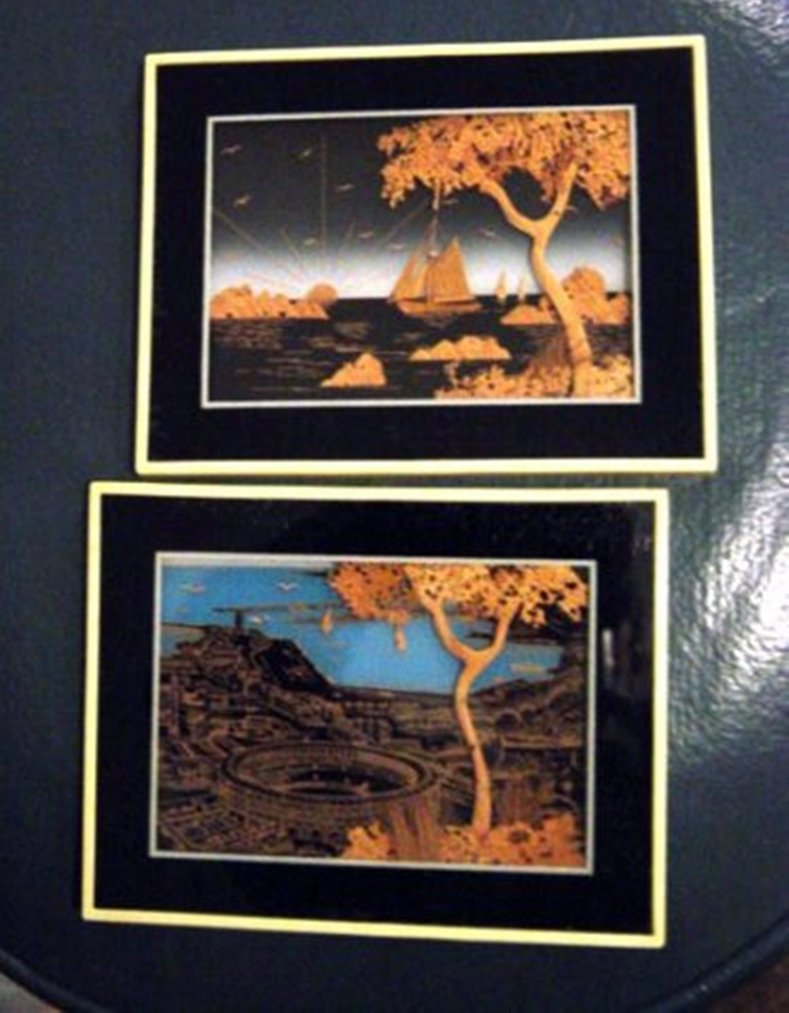 """Two 5"""" x 6 1/2"""" Mondelo 33 and 38 Wall Art Pictures #300002"""