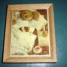 Kimberly Enterprises Sick Bear Tile and Wood Frame Wall Decor #300010