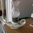 Vintage Alladin Shape Oil Lamp Gold Leaves and Flowers #301709