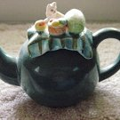 Small Dark Turquoise Picnic Decorative Teapot #301024
