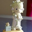1990 Precious Moments Plastic Enesco Light Up Girl Figurine #300655