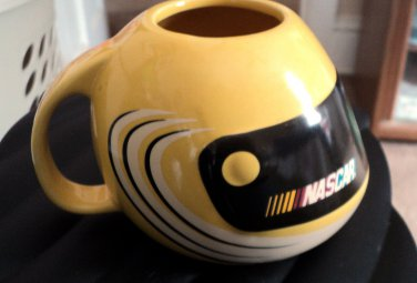 Yellow and Black NASCAR Official Licensed Product Helmet Mug #301954