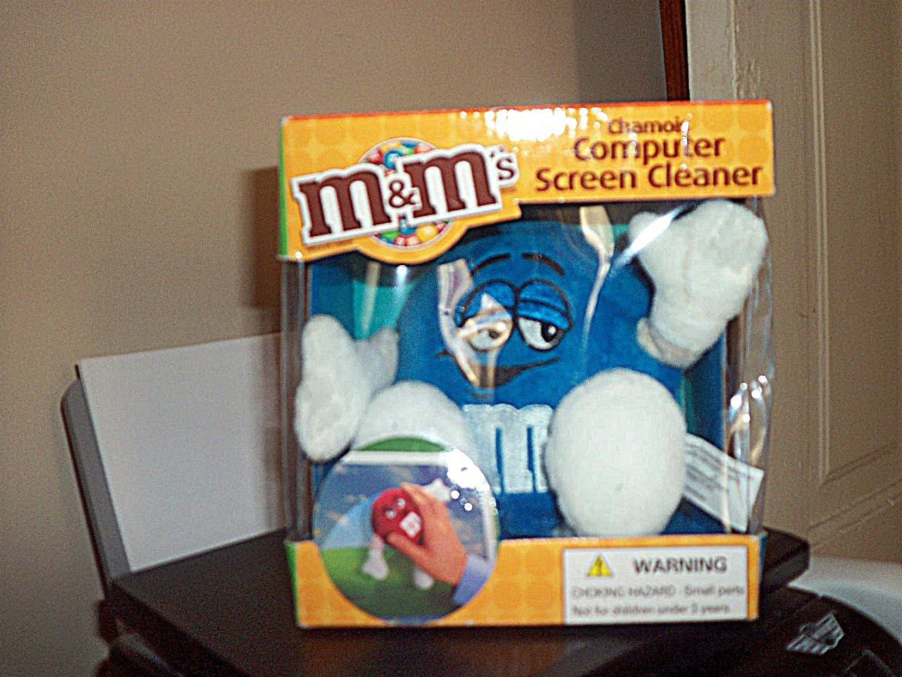 M&M's Blue Chamois Computer Screen Cleaner Soft NIB #301360