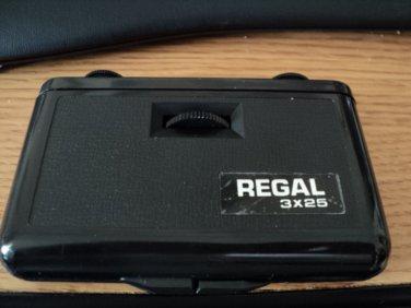 Regal Pocket Size Folding Theater Glasses Binoculars 3X25 Magnification   #301580