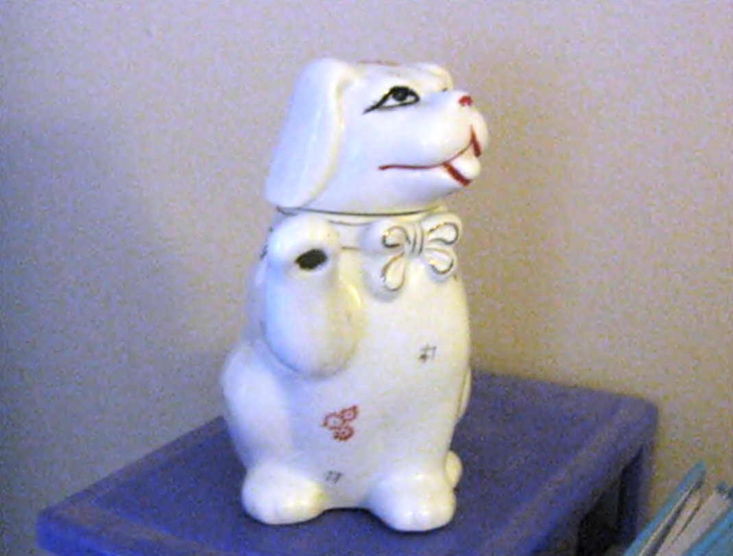 Porcelain Puppy Dog China Teapot or Creamer  #301960