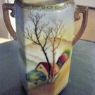 Hand Painted Vintage Nippon Two Handle Vase #300981