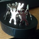 Six Man Shaped Office Clips on Magnetic Base Holder #301963