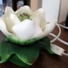 White Porcelain White Lotus Flower Night Light  #301972