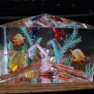 Vintage Acrylic Paperweight with Swimming Fish Figurine #301976