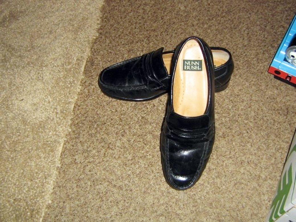 Nunn Bush Black Men's Slipon Dress Shoes Size 8M #301979