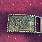 American Eagle and Mountains Brass Belt Buckle #302021