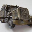Trucker Semi Trailer Truck Brass Belt Buckle #302022