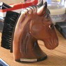 Vintage 1965 Creative Imports Inc. NY Hard Plastic Horse Head Clothes Lint Brush #302023