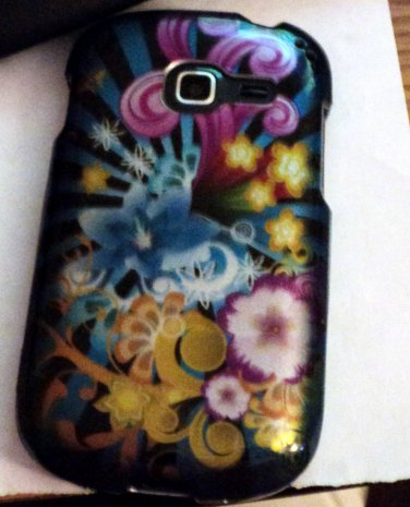 Samsung Galaxy Discover Multi Color Flowers Cell Phone Hard Case Cover #302033