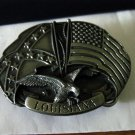 1988 Siskiyou State of Louisiana Brass or Pewter Belt Buckle  #302083
