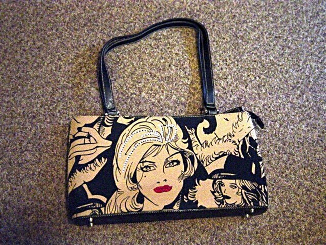 Black with Beige Rhinestone Cowgirl Fashion Handbag Purse#302091