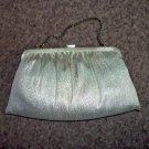 Vintage Gold Metallic Two Section Bag Purse Clutch #302108