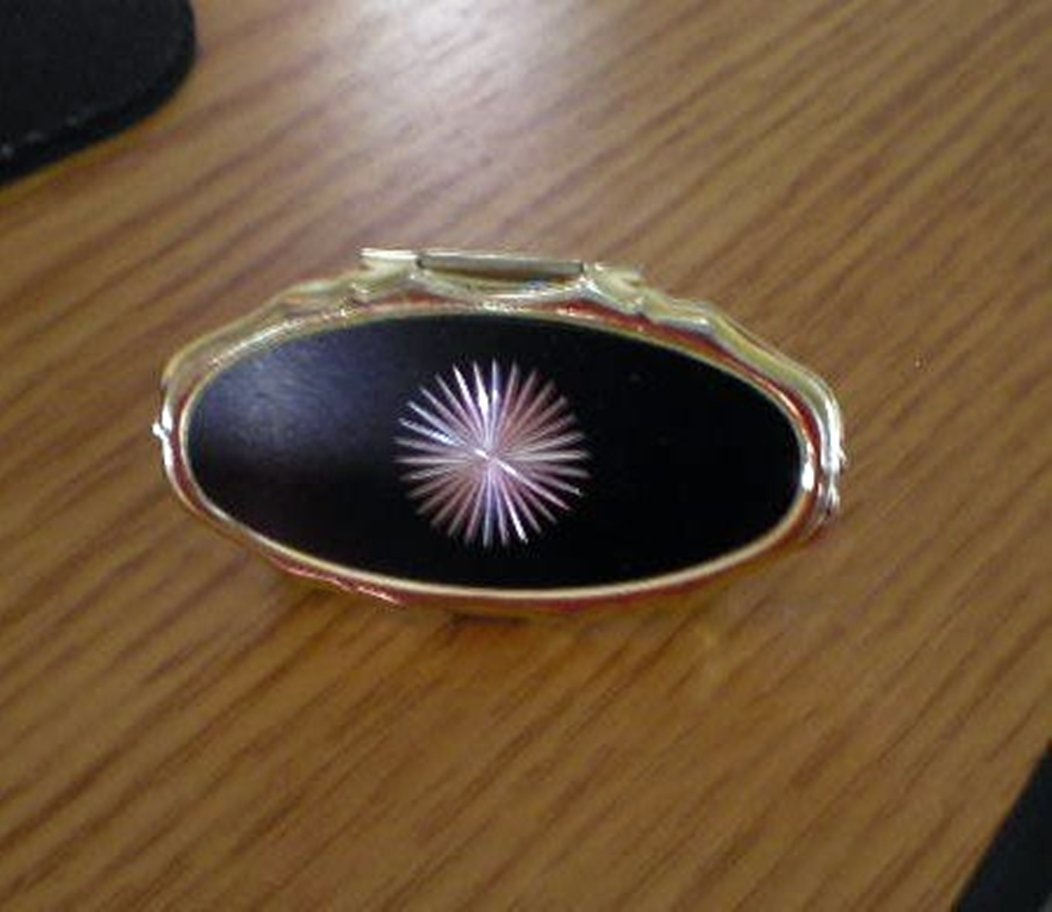 Brass Starburst Lip Stick Holder with Mirror #302118