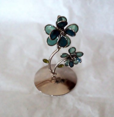 Claire's Stained Glass Flowers Holder for Photo or Card #302172