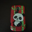 Red Bling Panda Bear and Bamboo Cell Phone Hard Case Cover for AT&T Radiant Z 740 #302211