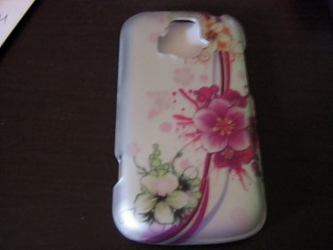 Silver and Floral Cell Phone Hard Case Cover for AT&T Radiant Z 740 #302211