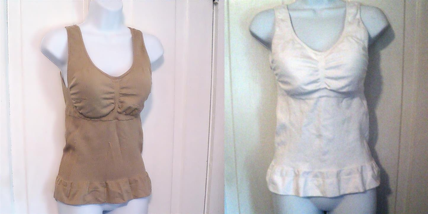 White or Beige CamiShaper Women's Lingerie size XL #302219