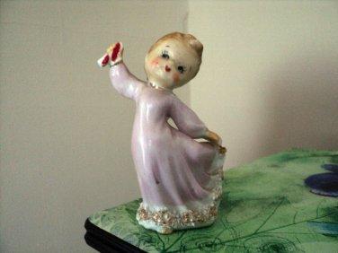 Vintage Dancing Lefton Angel Girl Figurine #302222