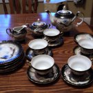 20 pc Lucky China Moriage Set: Teapot, Creamer, Sugar Bowl, 5 Cups,  6 Saucers, 6 Plates #302240