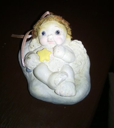 1991 Dreamsicles Angel Laying On A Cloud With A Star Wand Figurine #302241