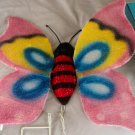 "Walmart 20"" Iridescent Fabric Butterfly Lighten Sculpture   #302256"
