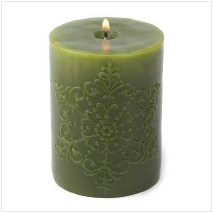 GREEN SNOWFLAKE CANDLE