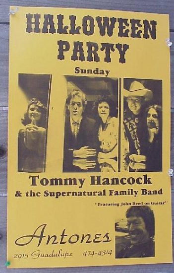 TOMMY HANCOCK Supernatural Flatlanders '83 Texas POSTER