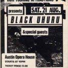 BLACK UHURU Rare '82 Texas TOUR HANDBILL Reggae Poster
