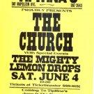 The CHURCH Mighty Lemon Drops '94 Gig Handbill Poster