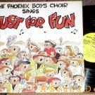 PHOENIX BOYS CHOIR Sings Just for Fun LP BILL KEANE Art